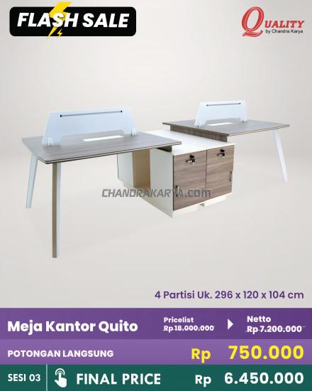 Meja Kantor Quito [Flash Sale] Chandra Karya