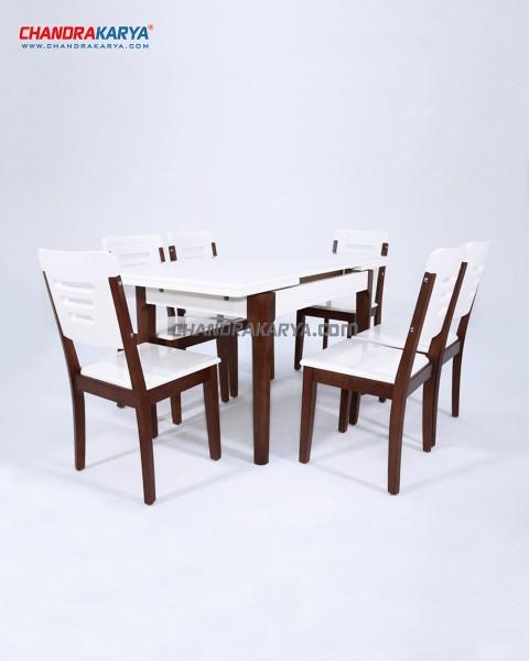 Set Meja Makan Minimalis Quality - Tipe 7038 & 6728 (6 Kursi)