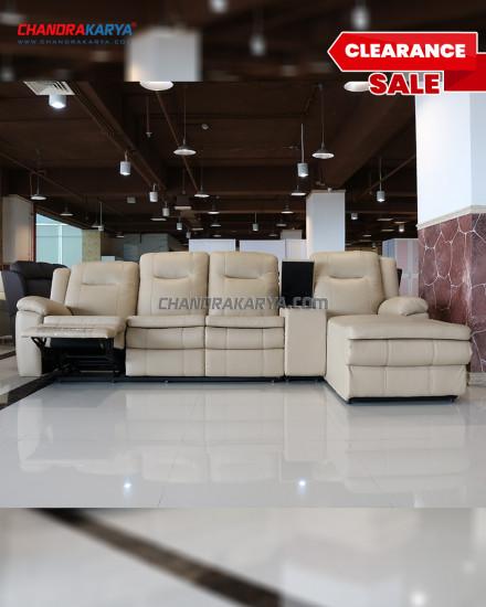 [Clearance Sale]Sofa L Reclining Chandra Karya - 8599 RC