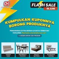Jangan lewatkan flashsale.chandrakarya.com Sabtu dan Minggu ini, semakin banyak produk-produk Springbed, Sofa dan Furniture menarik yang sayang dilewatkan! SIAPA CEPAT DIA DAPAT dengan harga EXTRA MURAH POTONGAN LANGSUNG HINGGA 2 JUTA untuk 5 KUOTA!Chandra Karya Flash Sale akan dilaksanakan setiap Sabtu & Minggu yang akan dimulai pada pukul 10.00 pagi selama Juni 2021, masing-masing produk hanya untuk 5 transaksi tercepat untuk pembelanjaan Online & Offline.Informasi lebih lengkap kunjungi www.chandrakarya.com / 0899 0021 020 (WhatsApp Only) *S&K Berlaku.#chandrakaryaofficial #chandrakarya #chandrakaryafurniture #ckproduk #belidichandrakarya #chandrakaryapramuka